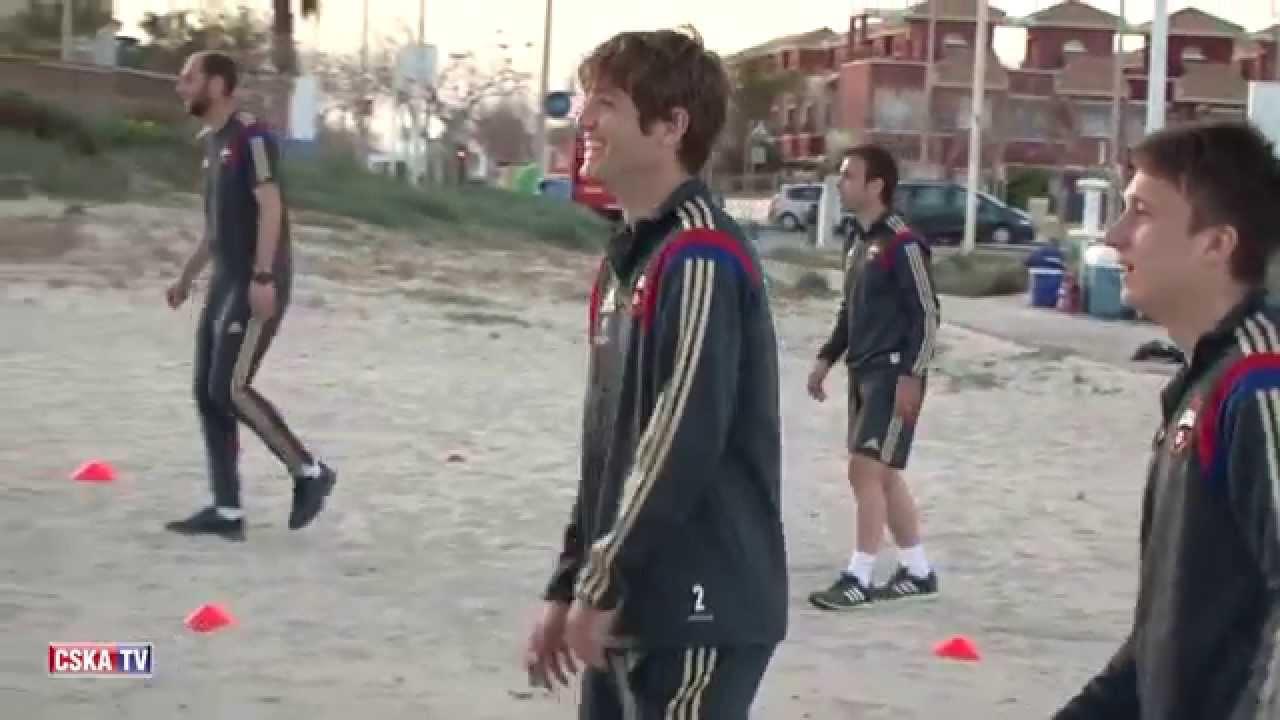 Пляжная тренировка ПФК ЦСКА // PFC CSKA trainig at the beach