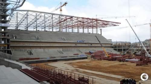 Настроительстве стадиона ЦСКА